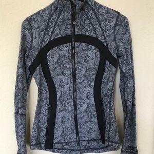 Lululemon Rose Herringbone Define Zip Jacket Black
